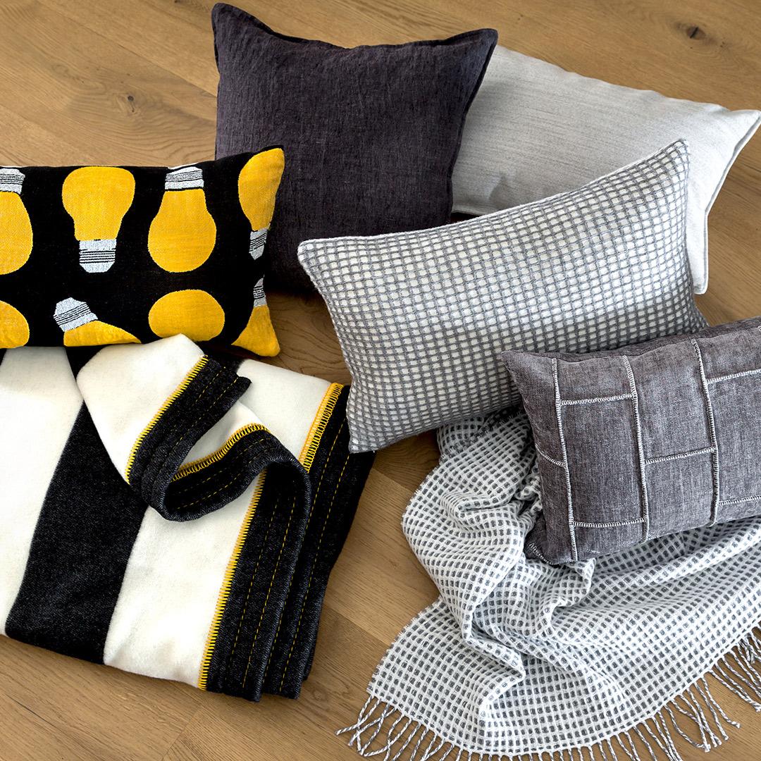 Unsere Produkte: Accessoires wie Kissen und Decken